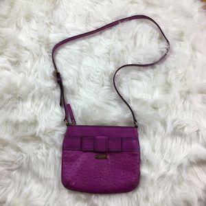 Kate Spade Bow Purple Leather Crossbody Purse